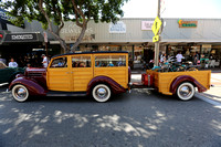 1936 Ford Woodie with matching trailer