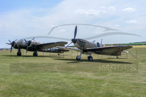 Spitfire Mk. IA and Blenheim IF